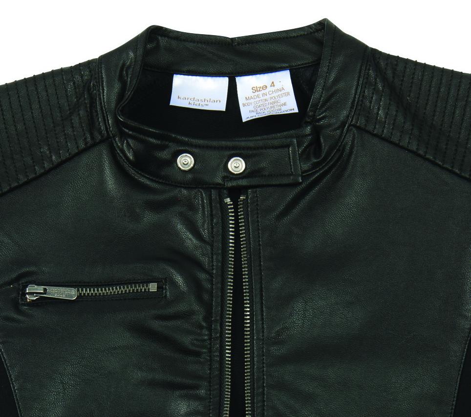 f41d0fc46 Kardashian Kids Leather Look Jacket